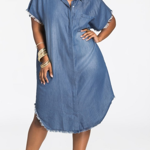 f8430250a6e Ashley Stewart Dresses   Skirts - Ashley Stewart Chambray Shirt Dress